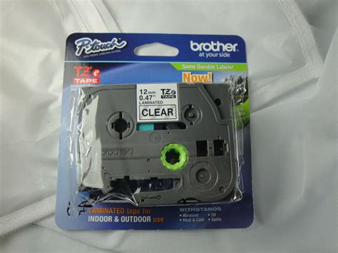pack brother p touch tze  black  clear label tape
