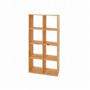 Etagere En Pin : tag re cube modulo 8 cases en pin ~ Teatrodelosmanantiales.com Idées de Décoration
