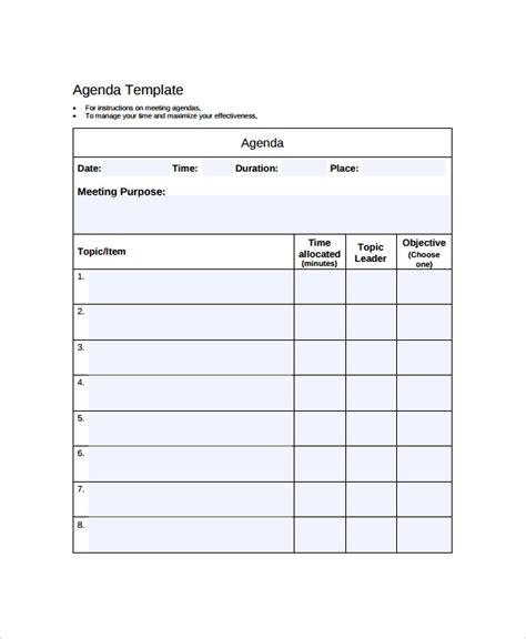 company meeting agenda template   word