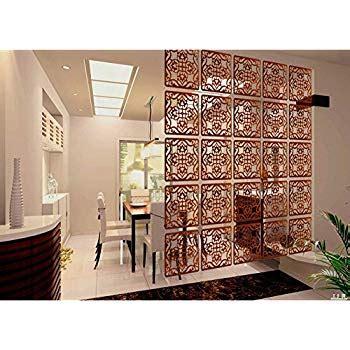 Amazoncom Black Wood 4 Panel Screen Ornate Swirl Design