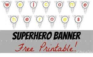 Free Printable Superhero Banner