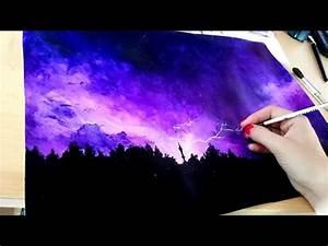 Acrylic Paint Violett Thunder Speed Paint JosYMovieS