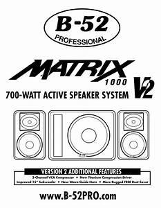 Matrix 1000 V2 Manuals