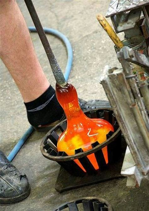 glassblowing shaping  art  images glass
