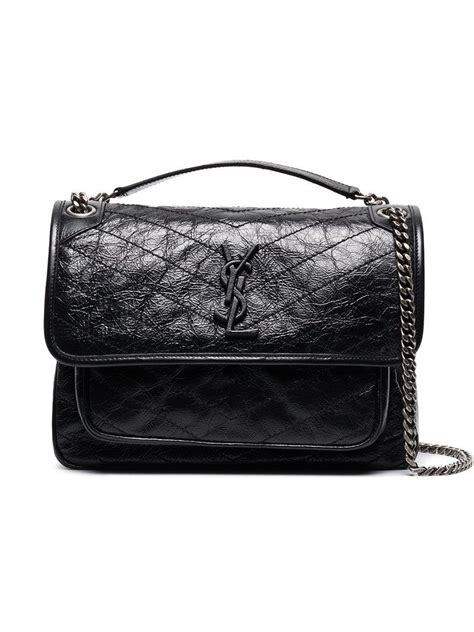 saint laurent niki monogram bag  black save