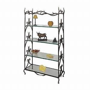 étagère En Verre Ikea : etag re elegance ligne metal etag res en fer forg ligne m tal ~ Teatrodelosmanantiales.com Idées de Décoration