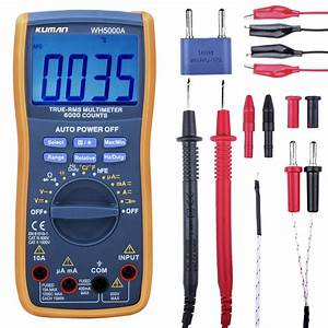 Kuman Digital Multimeter True Rms 6000 Counts Multimeters