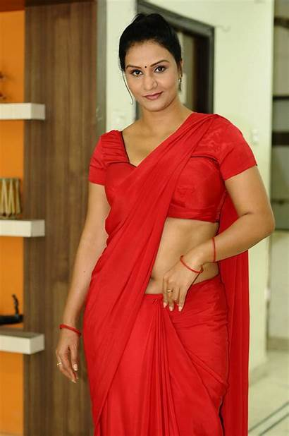 Apoorva Saree Actress Aunty Telugu Indian Navel