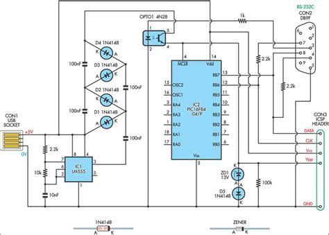 usb powered pic programmer circuit diagram