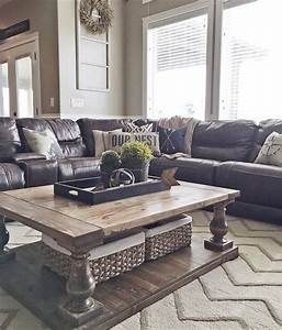 how to decorate your couch with pillows With brown leather sectional sofa decorating ideas
