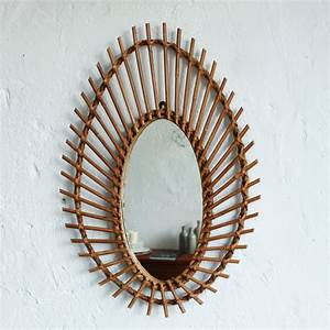 Petit Miroir Rotin : miroir rotin vintage forme amande atelier du petit parc ~ Melissatoandfro.com Idées de Décoration