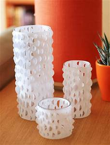 Diy cut paper candle holders how about orange for Best brand of paint for kitchen cabinets with paper candle holder template