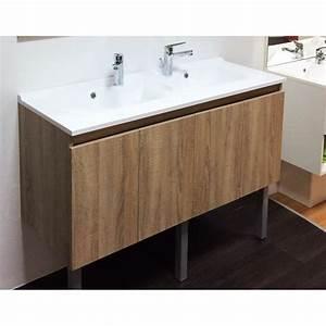 Double Vasque 140 : caisson suspendu double vasque proline ~ Edinachiropracticcenter.com Idées de Décoration