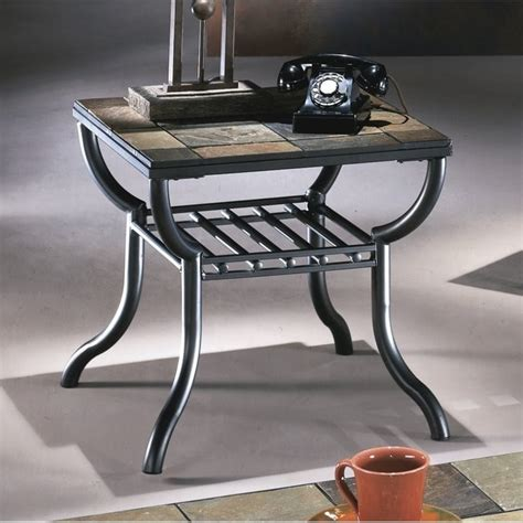 ashley antigo slate tile square  table  black