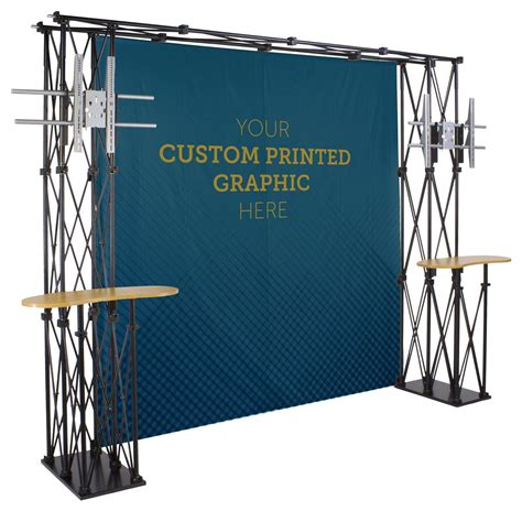Backdrop For Display by Truss Trade Show Booth Backdrop Includes 8 X8 Custom