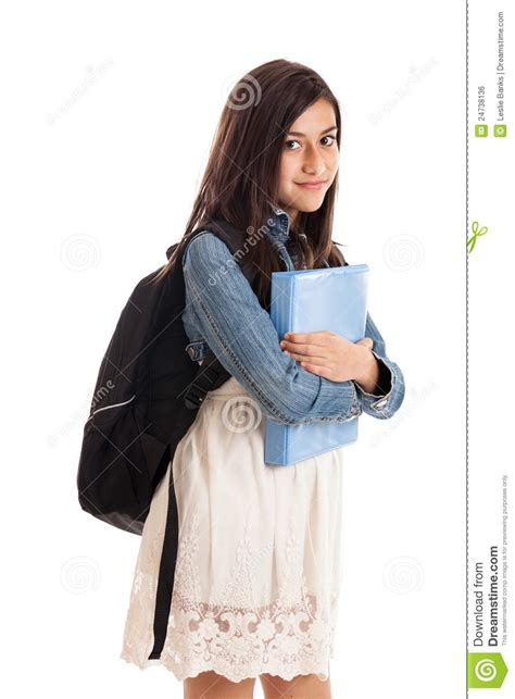 preteen school girl portrait royalty  stock image