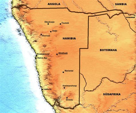 Landkarten - Namibia