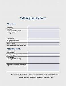 7  Best Catering Inquiry Form Templates