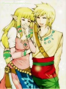 Link and Zelda by Arumy on DeviantArt