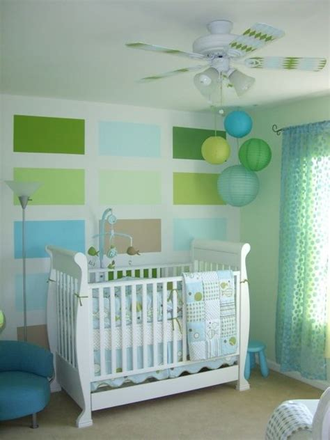 chambre enfant bleu et vert deco chambre bebe vert et bleu