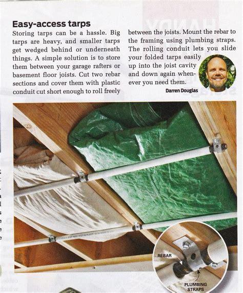 rafter storage handy hints pinterest storage
