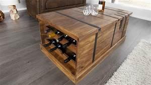 Table De Salon Bois : table basse de salon en bois coffre de rangement harald gdegdesign ~ Teatrodelosmanantiales.com Idées de Décoration