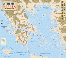 Athens and Sparta Map