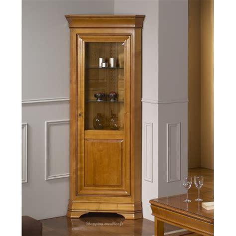 fauteuil de bureau cuir et bois vitrine d 39 angle 1 porte en merisier massif fontainebleau