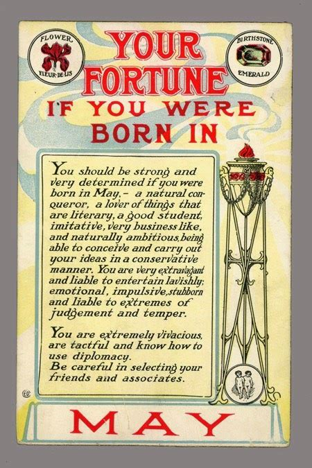 John's Island: Your Fortune ... If born in May [1910]