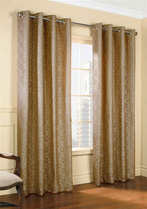 Lace Drapery Panels by Insulated Lace Grommet Curtain Panels