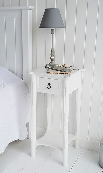 england white bedside table  drawerthe white