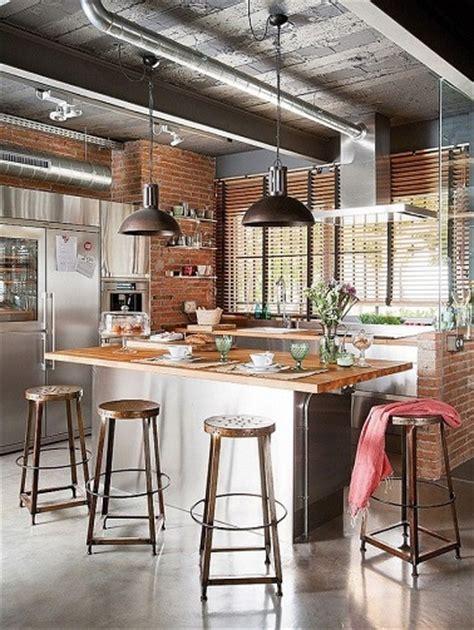 chemin cuisine cuisine à mi chemin entre style industriel et rustique