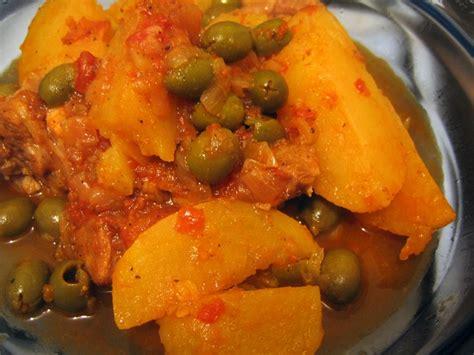 tajine de veau aux pommes de terre et aux olives la