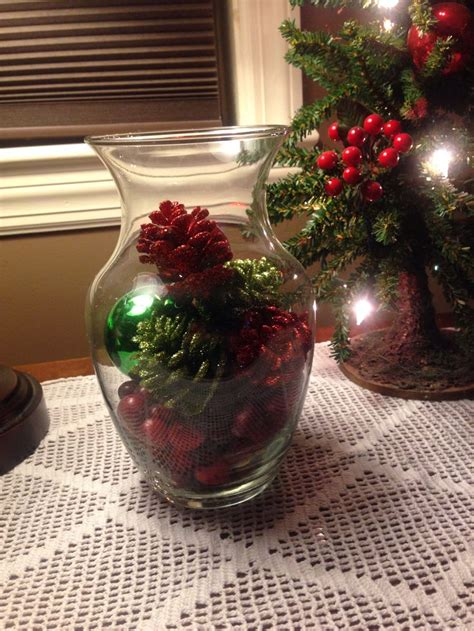 christmas vase with ornaments gift ideas pinterest