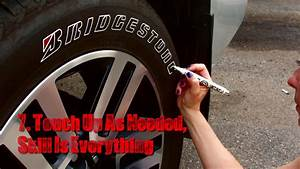 how to paint tire letters tire penz instructions how With bridgestone tire letters