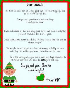 Elf on the shelf good bye letter focusing on jesus it for Goodbye letter from elf on the shelf template