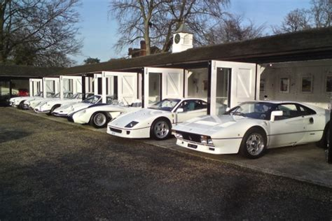 """Chris Evans """"White Collection"""" of Ferraris that we assembled"""