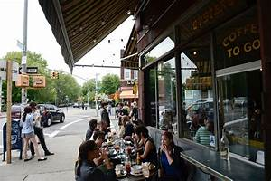 strolling for rituals clash in brooklyn outdoor cafes vs churchgoers