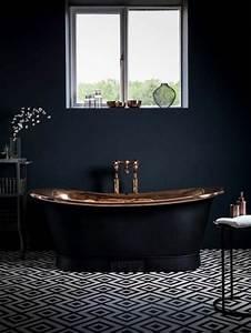 salle de bain design luxe noir et blanc urbantrottcom With wonderful sol gris quelle couleur pour les murs 9 quelle couleur salle de bain choisir 52 astuces en photos