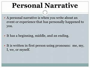 personal narrative middle school examples