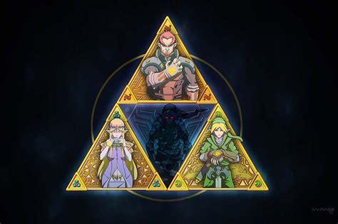 The Triforce Link Zelda Ganondorf And Dark Link