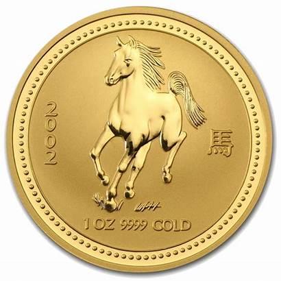 Gold Horse 2002 Lunar Oz Coin Coins