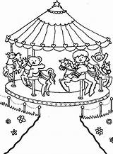 Carnival Coloring Carousel Circus Printable Sheets Roundabout Magic Colouring Fair Template Animal Activity Fun Quinn Harley Costume Popular Templates Tocolor sketch template