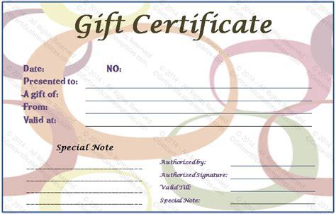 Chiropractic Gift Certificate Template Costumepartyrun