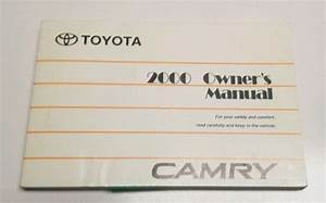 2000 Toyota Camry Sedan Owners Manual User Guide Ce Le Xle