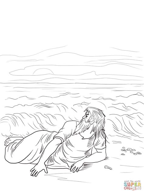 Jonah In Nineveh Sheet Coloring Pages
