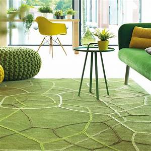 tapis vert et marron meuble oreiller matelas memoire With tapis salon vert