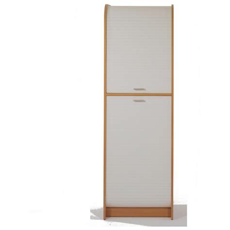 colonne de rangement cuisine h180cm fermeture 2 rideaux 224