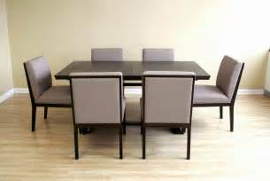 dining room table and chairs modern