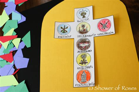 shower  roses   sacraments stained glass window